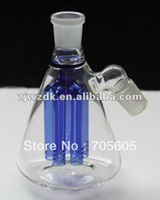 Wholesale glass Ash Catcher glass bubbler BLUE and Green color mm or mm