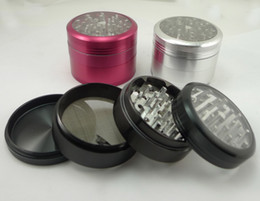 Wholesale 2 quot piece aluminum grider with window CNC aluminum grinder parts mix colors
