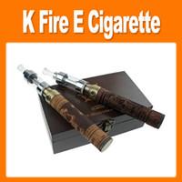 Electronic Cigarette k fire ecig - HOT ml cleaormizer k fire ecig wooden mod k fire E cigarette mah battery material real wood material glass vivi nova atomizer