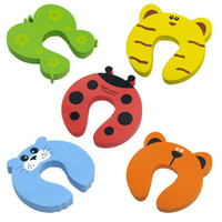 Wholesale 5 Details about Baby safety Door Guard Finger Protector Stopper cute animal Butterfly Cat Tiger