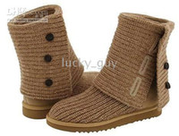 Wholesale New Women s crochet cardy boots boot with certificate card and box