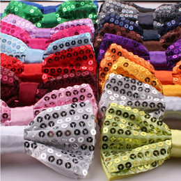 Wholesale 2014 New Sequins men s show Bow ties evening party host wedding groom groomsman color Free size