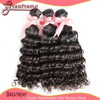 Dyeable Natural Color 100% Peruvian Virgin Hair Extension UN...