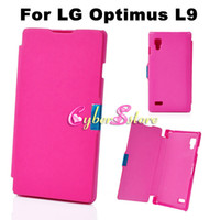 Wholesale For LG Optimus L9 New Magnet Magnetic Thin Folding Wallet PU Flip Leather Case Cover Hard Plastic Shell For LG Optimus L9 P760 P765