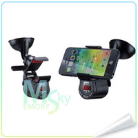 Wholesale New Car FM Transmitter Handsfree Charger Smart Holder iPhone Galaxy SONY Android