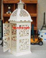 Wholesale wrought iron candle Holder lantern shop home decoration Wedding gift B13132