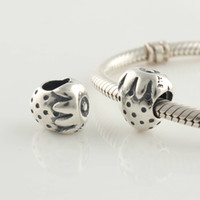 Metals Food Silver 925 Sterling Silver Screw Core Strawberry Charm Bead Fits European Pandora Jewelry Bracelets Necklaces & Pendants
