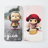 Wholesale Cartoon monkey back cover case for iphone4 amp iphone4s