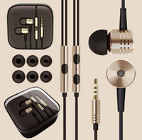 Wholesale XIAOMI Piston Earphone Headphone In Ear Headset with Mic remote Silver Gold for MI2 MI2S MI2A Mi1S Phones Top Quality New