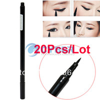 Waterproof Pencil Eyeliner 20Pcs Lot Waterproof Beauty Makeup Cosmetic Liquid Eye Liner Eyeliner Pen Pencil Black Free Shipping 6546