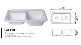 Wholesale Modern Acrylic solid surface resin kitchen sink GX110