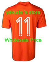 Holland Robben #11 Home World Cup 2014 Netherland Soccer Jer...