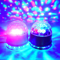 Wholesale New UFO LED Magic Ball Magic Ball Stage Light Little Sun Light Mini Laser Light Crystal Magic Ball Light Colorful Rotating Lights Y3049