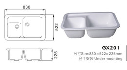 Wholesale Modern Acrylic solid surface resin kitchen sink GX201