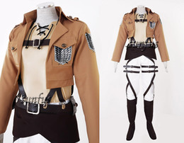 Wholesale Attack on Titan Shingeki no Kyojin Eren Jaeger Survey Corps leather Cosplay cosmic costume anime any size