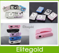 Wholesale New Mirror Mini Clip MP3 Player Support GB Micro SD TF Memory Cards Good Quality Colors Black White Pink Blue Purple