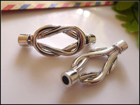 Wholesale 50Pcs Antique Silver tone Magnet Magnetic Buckle Clasp Hooks Connector End Caps For mm Leather Cord Bracelet DIY Findings