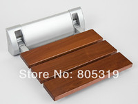 Wholesale Wall Mounted Shower seat bench Luxury Bathroom Folding Shower Seat Wide Base