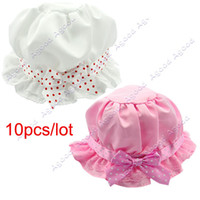 Wholesale 10pcs Fashion Lovely Lace Bowknot Summer Unisex Children s Baby Sun Hats Caps