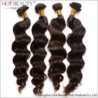 Brazilian Hair wholesale remy hair - Loose Wave Brazilian Virgin Remy Hair Unprocessed virgin human hair extensions color b