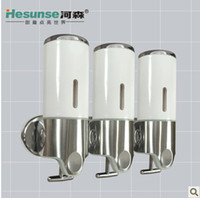 Wholesale Wall Mounted Three Sliders Stainless Steel Panel Soap Dispenser for Home Hotel Office