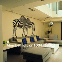 Wholesale EMS DHL and Retail Funlife Double The Zebra Room decorative art mural wall sticker decor decals FWDAX