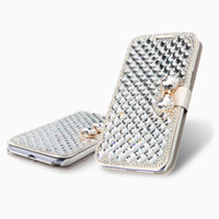 Wholesale Details about For Samsung Galaxy S3 S4 Note Note iPhone Bling Diamond Leather Case Cover