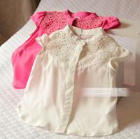 Girl Summer Standard 5pcs Children girl's children's baby clothing vintage chest jacquard elegant short-sleeve shirt f6021