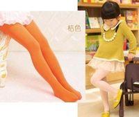 Wholesale 2014 Kids Candy Color Tights Pantyhose Leggings Children Girls Velvet Dance Tights Girl Cute Leggings Girl Socks B3089