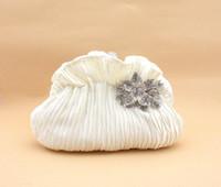 Clutch rhinestone purses - Fold Dumplings Styles Women s Clutch Handbag Alloy Rhinestone Flower Evening Bag Satin Clutch Purse Color