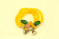 Other   maxi freeshippng M22 Natural JEWELRY citrine multilayer Bracelet lotus hands on BRACELETS