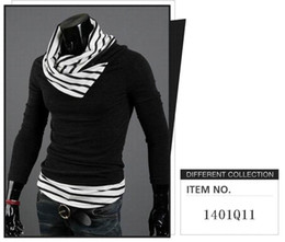 Wholesale 2014 new fashion men s Sweaters Turtleneck stitching can be turned high collar Slim sweater knitwear mens clothes Outwear