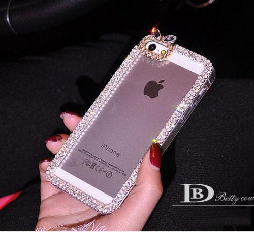 Buy Details iPhone 5 5S 4 4S Bling Diamond Rhinestone Cute Bow Clear Hard Case Cover