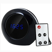 Wholesale Alarm Clock Camera Mini Motion Detect Hidden espion Camcorder DVR Video X960 degree wide lens mAH FPS Recorder