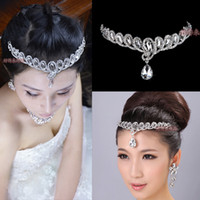 Fascinators Rhinestone/Crystal  2014 Free Shipping Greek Goddess Silver Hair Accessories Bridal Crystal Wedding Party Tiaras