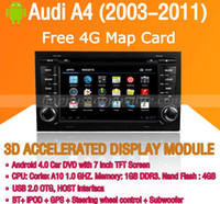 Wholesale Android Car DVD Player for Audi A4 Saloon GPS Navigation with Wifi G Touch Screen Bluetooth Ipod Virtual Disc P Audi A4 Car DVD