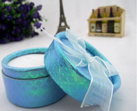 Wholesale New Jewelry Box Valentine s Day Gift Box cm Silk Round Paper Pure Color Ring Package Boxes