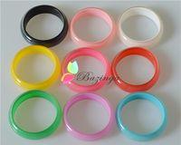 Wholesale Bohemian Color Bangle Bracelets Shinning Fluorescence Color Resin Bangles Multicolor Women Personalized Jewelry SZ213