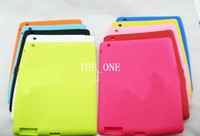 Wholesale colorful silicone soft ipad Protective Back Cover Case silicone rubber back cover case Apple ipad case ipad case new