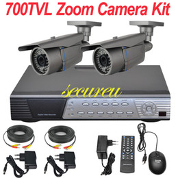 Wholesale Cheapest Cctv Camera Recorders - Cheap best cctv system 2ch cctv kit zoom lens ir night vision cctv security surveillance camera 4CH D1 DVR network digital video recorder