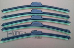 Оптовая 150 шт / много FedEx Щетка стеклоочистителя автомобильный, натуральный каучук автомобилей Wiper авто мягкие стеклоочистителя любой размер 2 выбор 14-24in