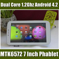 7 inch 7 inch cell phone - Cheap inch TD786 Phablet MTK6572 Dual Core Ghz Tablet PC GPS Bluetooth WIFI Dual Sim dual Camera Android mobile cell phone