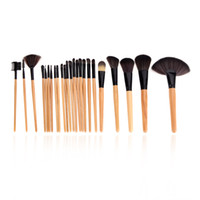 cheap makeup - Cheap Wood Makeup Brushes Kit Professional Cosmetic Make Up Set Pouch Bag Case Black H10074
