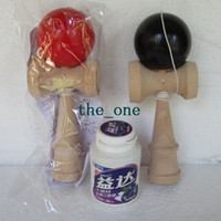 Wholesale 11 Colors CM Kendama Ball Japanese Traditional Wood Game Toy Education Gifts Hot Sale children toy baby gift EMS FREE TO AUS
