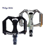 Wholesale WELLGO M195 Bike Pedal mm Aluminum Alloy Spring Board for Mountain Bike Bicycle Parts