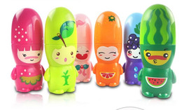 Wholesale Cartoon Fruit Mini Fan Fashion Portable battery Mini Fan Pattern Summer Electric Cool Fan Colours Mini Cute Toy Best Creative Gifts