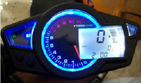 Wholesale Motorcycle KOSO LCD digital Odometer Speedometer Tachometer Motorcycle Backlight quot quot wheel rpm