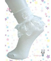 baby white ruffle socks - Children Girls White Ruffles Lace Patched Socks Kids Cotton Fancy Stockings Baby Girls Dance Party Sock Foot Wear Child Soks B3096