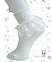 Girl ruffle socks - Children Girls White Ruffles Lace Patched Socks Kids Cotton Fancy Stockings Baby Girls Dance Party Sock Foot Wear Child Soks B3096