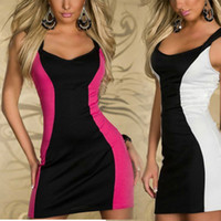 Wholesale New Arrivals Women Girls Sex Fashion Sleeveless Dress Lady Evening Dresses Back Lace Zipped Design Bodycon Party Clubwear Freeshipping